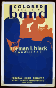 Colored Concert Band, Norman L. Black, Conductor Clip Art