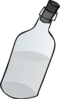Glass Bottle Black And White Clip Art