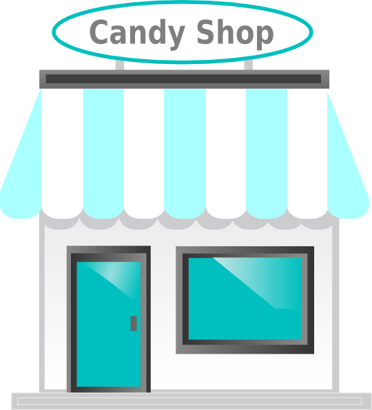 Candy Shop Front Clip Art at Clker.com - vector clip art ...