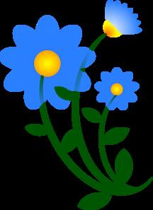 blue flower clip art at clker com vector clip art online royalty rh clker com