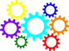 Gears Colorful Clip Art