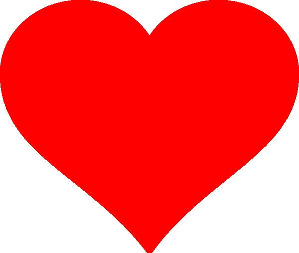 red heart clip art at clkercom vector clip art online