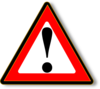 Black Red Warning Clip Art