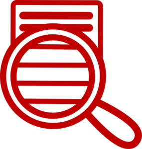 Red Close Reading Clip Art