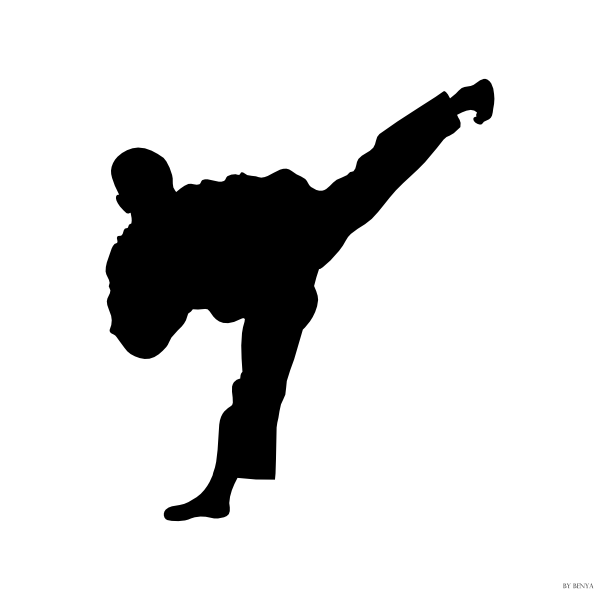 taekwondo kick side clip art at clker com vector clip art online rh clker com tae kwon do clip art free taekwondo clipart black and white