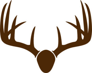Brown Deer Skull Mount Clip Art