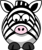 Zebra Looking Down Clip Art