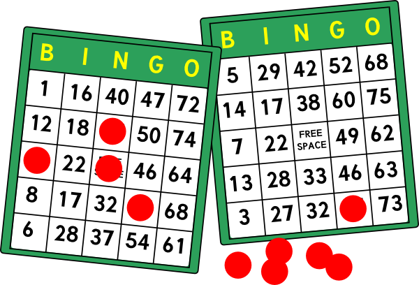 Bingo Cards Clip Art | Card Pictures