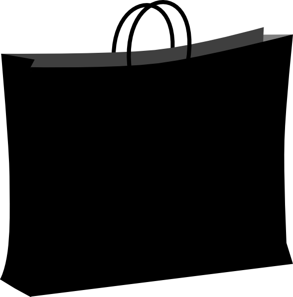 black shopping bag clip art at clkercom vector clip art