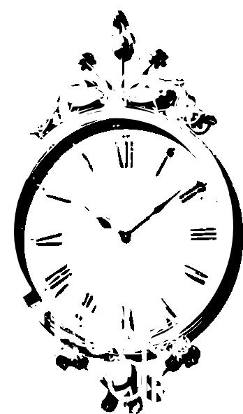 antique wall clock clip art at vector clip art online