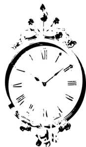 Antique Wall Clock Clip Art