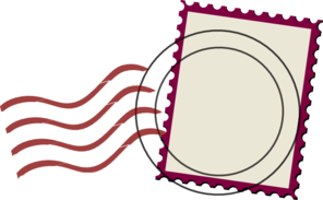 Mail Stamp Template Clip Art