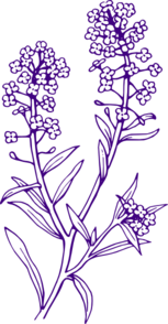 Purple Filler Flowers Clip Art