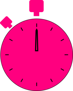 Pink Stop Watch Clip Art