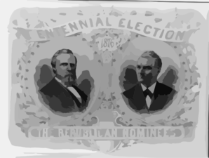 Centennial Election. The Republican Nominees Clip Art