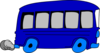 Blue School Bus Clip Art