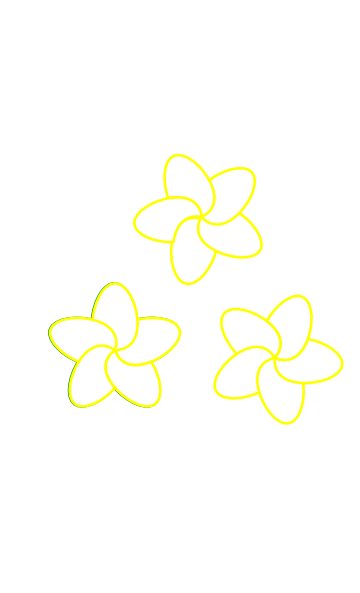 Plumeria Flower Line Drawing Downloads