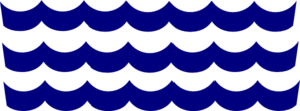 Wave Pattern Navy Clip Art