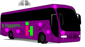Purple Tour Bus Clip Art