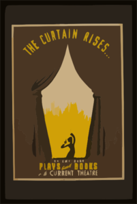 The Curtain Rises ... Contemporary Plays And Books On The Current Theatre. Clip Art