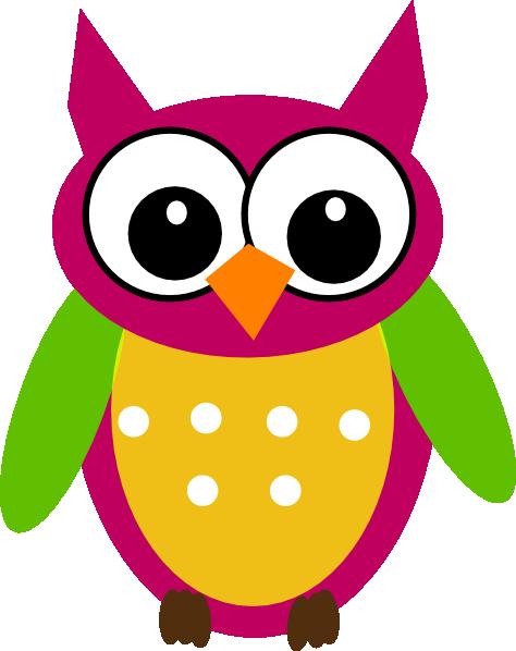 purple green owl clip art at clker com vector clip art Cute Cartoon Owl Clip Art cute colorful owl clipart