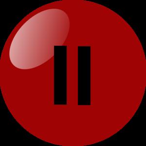 6403203dc8e76 Pause Button Dark Red Clip Art at Clker.com - vector clip art online ...