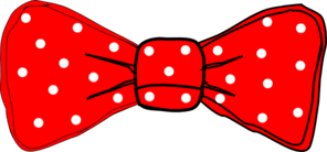 Bow Tie Red Polka Dot Clip Art