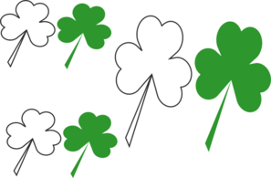 Group Of Shammrocks Clip Art