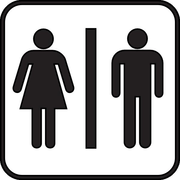 Woman Man Bathroom Clip Art At Vector Clip Art Online