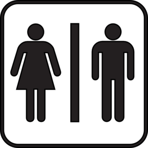Woman Man Bathroom Clip Art
