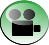 Green Video Icon-green Clip Art