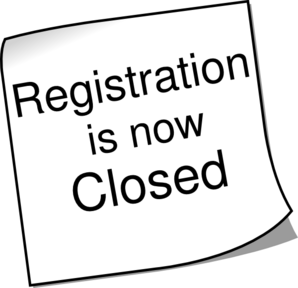 Registration Closed 2 Clip Art