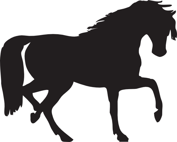 horseshoe silhouette clip art - photo #34
