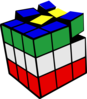 Rubiks Cube 3d Colored 2 Clip Art