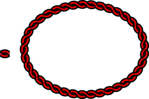 Red Rope Border Clip Art