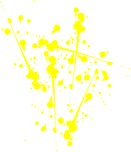Yellow paint splat