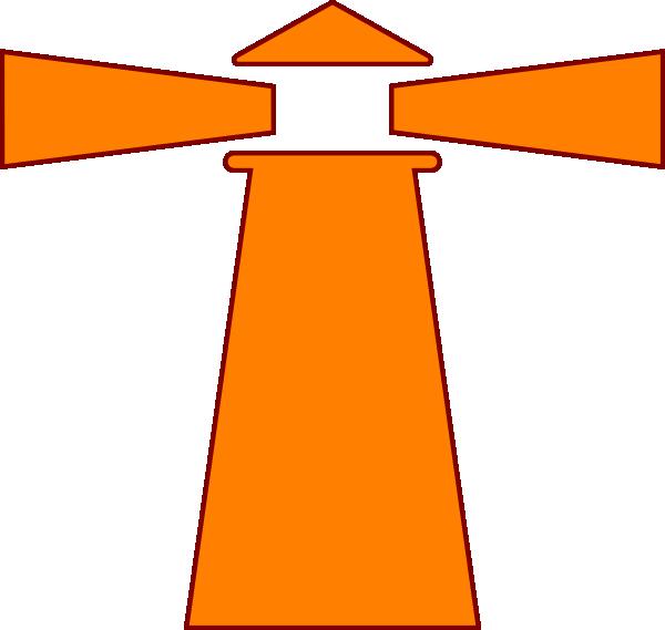 Lighthouse Orange Brown Clip Art At Clker Com Vector