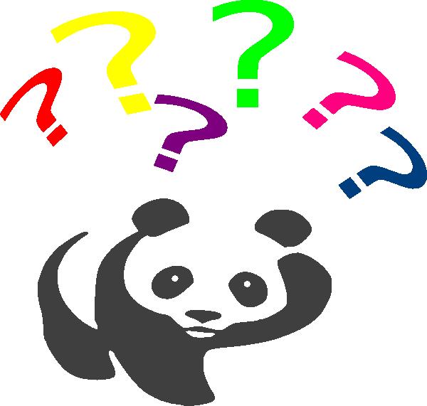 Rainbow Questioning Panda Clip Art at Clker.com - vector clip art ...