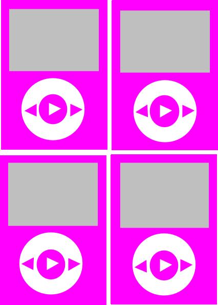 hot pink color ipods clip art at clkercom vector clip