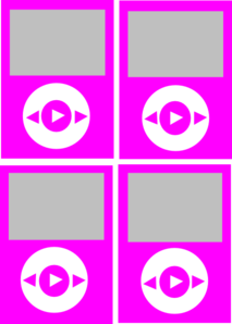 Hot Pink Color Ipods Clip Art