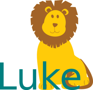 Lion With Name Clip Art