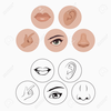 Eyes Nose And Mouth Clipart Image