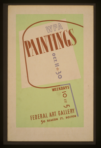 Wpa Paintings, Federal Art Gallery, 50 Beacon St., Boston Image