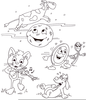 Hey Diddle Diddle The Cat And The Fiddle Clipart Image