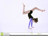 Little Girl Gymnastics Clipart Image