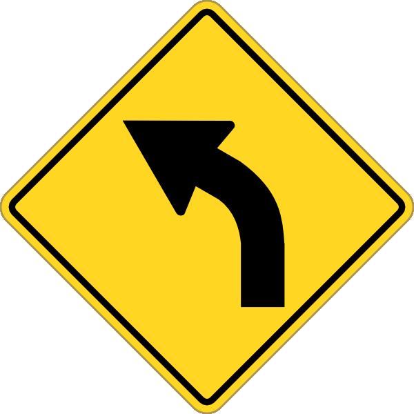 sign turn left clip art at clker com vector clip art online