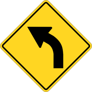 Sign Turn Left Clip Art