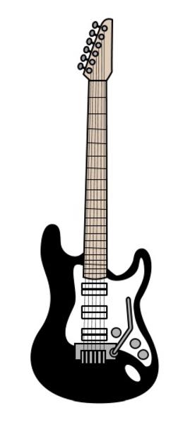 Cartoon Guitar | Free Images at Clker.com - vector clip art online ...