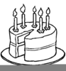 Black White Birthday Candle Clipart Image
