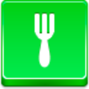 Free Green Button Fork Image